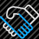 business, customer, customer service, deal, handshake, marketing icon