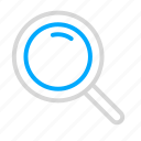 magnifying glass, search, seek icon