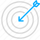 business, growth, marketing, target icon