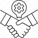 business, handshake, idea, marketing, meeting, team, teamwork icon