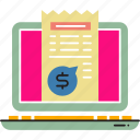 bill, cash, invoice, paper, pay, payment, receipt icon