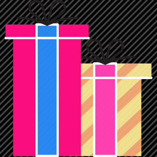 Birthday Gift Marketing Online Promo Sale Shopping Icon