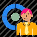 business, customer, market, marketing, people, target, targeting icon