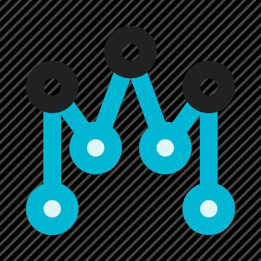 analytics, business, chart, diagram, graph, lines, statistics icon