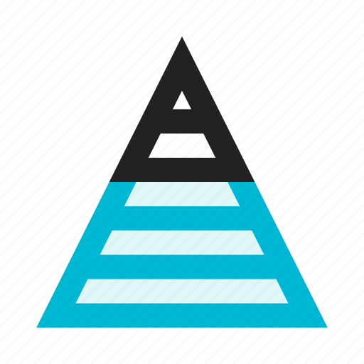 analytics, business, chart, diagram, graph, pyramid, triangle icon