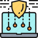 computer, device, laptop, marketing, protection, security, web icon