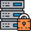 cloud, data, hosting, marketing, protected, server, web icon