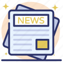 business news, corporate news, daily news, media paper, news magazine, newspaper icon