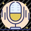 mic, microphone, podcast, radio mic, recording, speaker icon