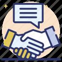 contract partner, media agreement, media partner, partners handshake, social partner icon