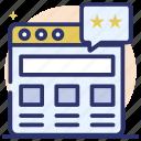 online feedback, web design, web feedback, website chat, website feedback icon