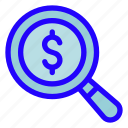 search, money, business, finance, dollar