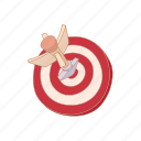 arrow, cartoon, center, dart, darts, game, target icon
