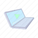cartoon, computer, design, laptop, modern, notebook, screen icon