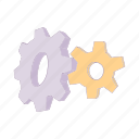 cartoon, equipment, gear, machine, mechanical, technology icon