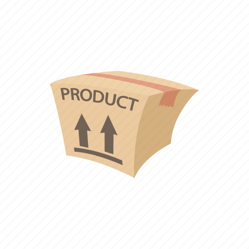 background, box, cardboard, cartoon, goods, package, packaging icon