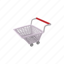 background, basket, cart, cartoon, market, shop, trolley icon