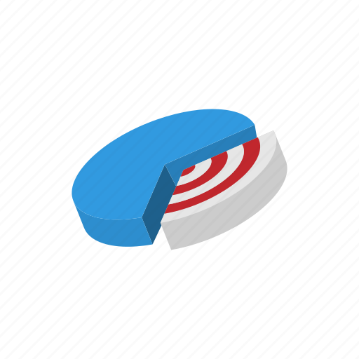 background, business, cartoon, chart, graph, pie, target icon
