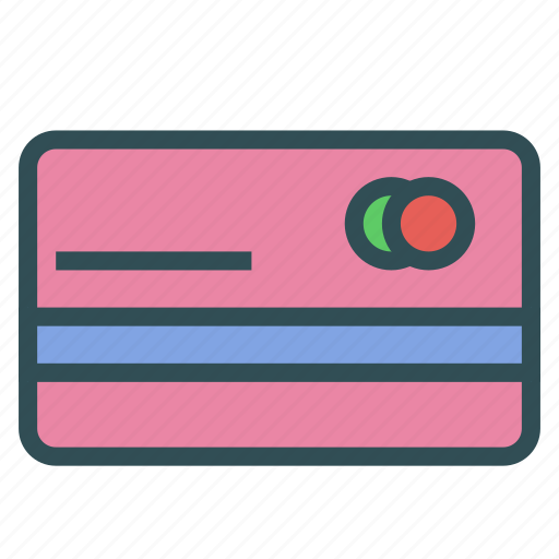 bank, card, credit, money icon