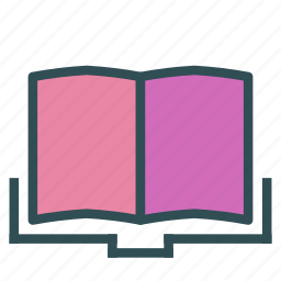 book, opened, reading icon