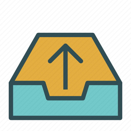 arrow, box, container, document, file, up icon