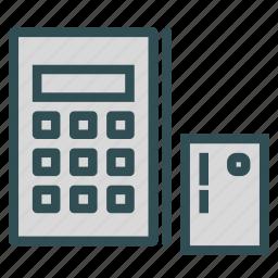 calculator, card, old, presentation icon