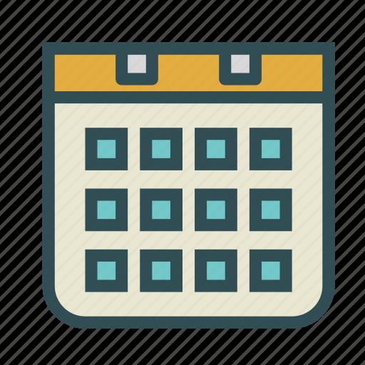 agenda, calendar, days, time icon