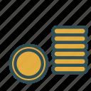 circle, coin, money, round icon