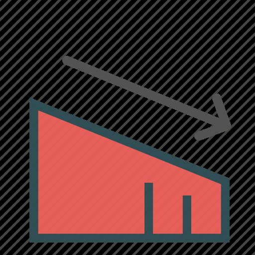 analysis, decrease, report, statistics icon