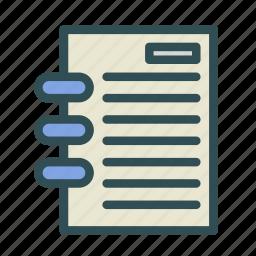 agenda, book, file, presentation, report icon