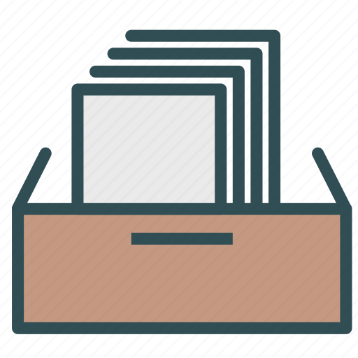 cabinet, documents, drawer, file, paper icon