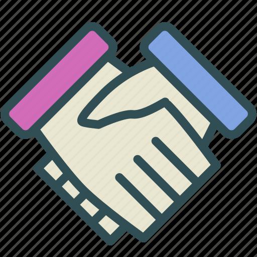 agreement, hand, shake icon