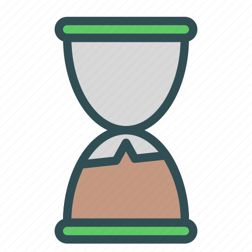 glass, hour, timer icon