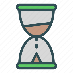 glass, hour, measure, timer icon