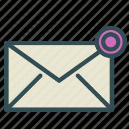 alert, circle, envelope, letter, signal icon