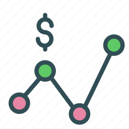 connection, dollar, money, network, target icon