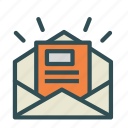 envelope, letter, mail, news icon