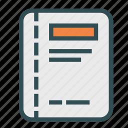 agenda, book, notebook icon