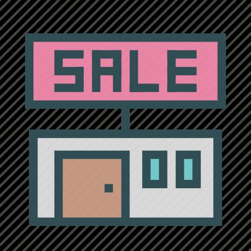 announcement, sale, shop, store icon