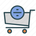 cart, divide, shop, store, trolly icon