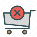 cancel, cart, multiply, shopt, store, trolly icon
