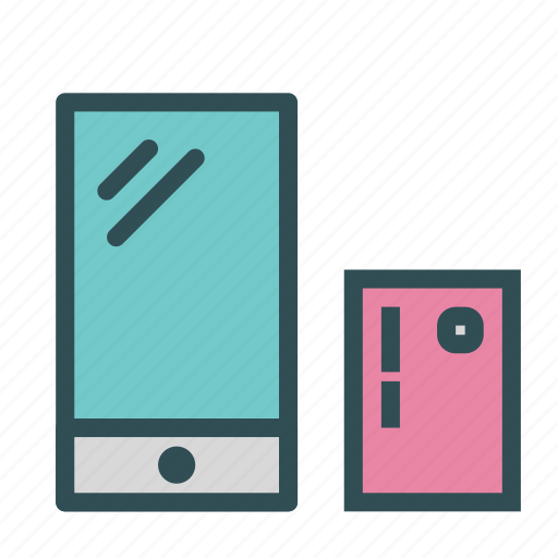 card, phone, presentation, smart icon