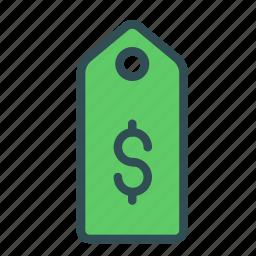 dollar, money, shop, store, tag icon