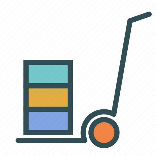 box, product, transport, trolly icon