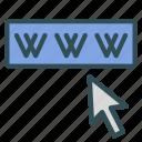 cursor, internet, net, website, www icon