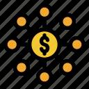 dollar, business, finance, money, share