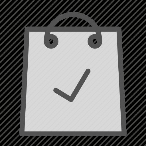 bag, check, ok, shop, store icon