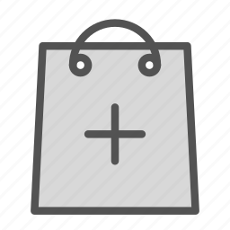 add, bag, plus, shop, store icon