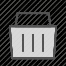 bascket, plain, shop, store icon