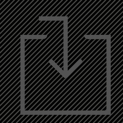 arrow, box, entrance, guidance icon
